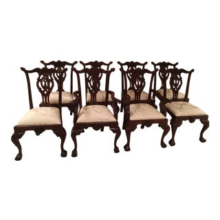 Mahogany Chippendale Chairs - Set of 8