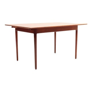 Solid Teak Table or Desk by Ib Kofod Larsen for Christiansen & Larsen