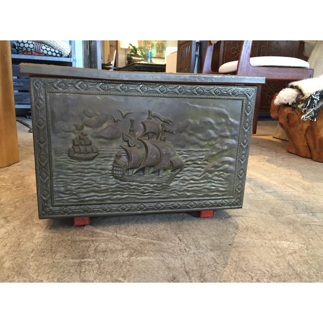 Vintage Metal Nautical Box - Image 2 of 7