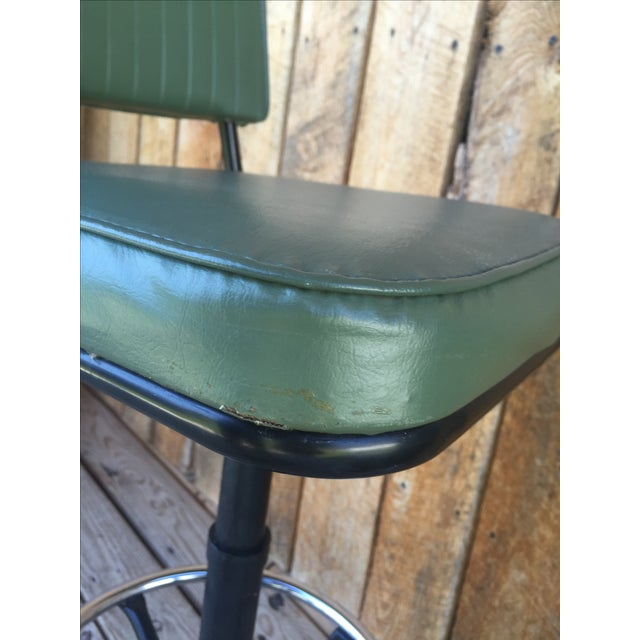 Mid-Century Bar Stools in Jade - A Pair - Image 9 of 11