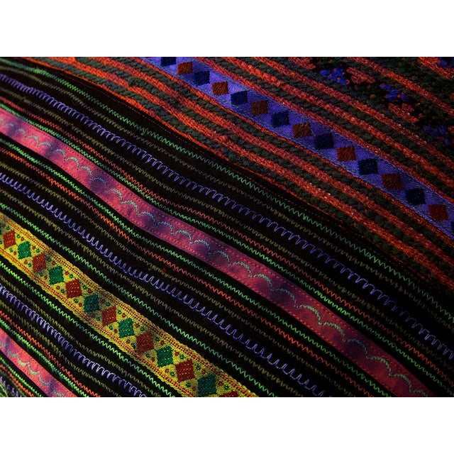 Hill Tribe Pillow - Handmade in Thailand Purple - Image 2 of 4