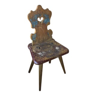 Small Painted Tyrolean Chair