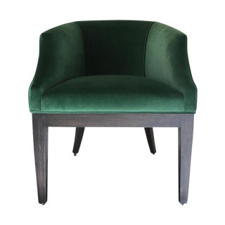 Custom Emerald Green Velvet Club Chair