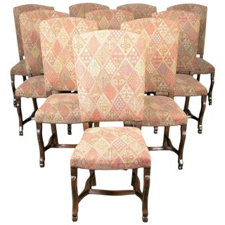 19th Century Set of Ten Louis XIV Style Dining Chairs