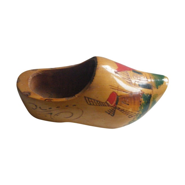Vintage Hand-Painted Dutch Shoe Clog - Image 1 of 5