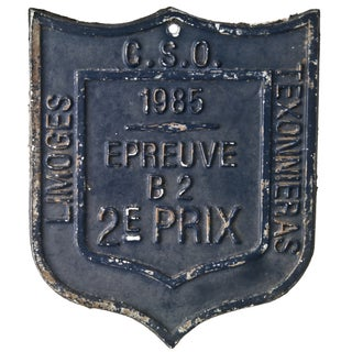 French 1985 Award Plaque