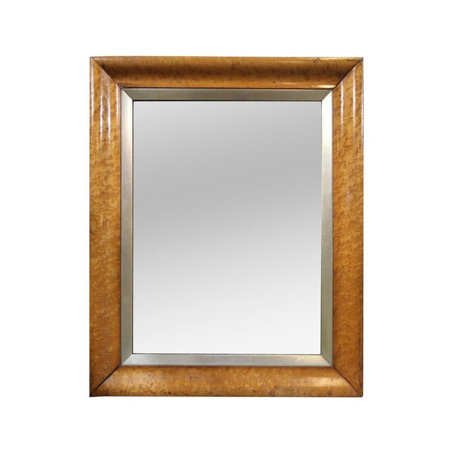 Image of Birds-Eye Maple Frame Mirrors - A Pair
