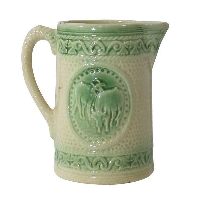 Antique Ceramic Cow Pitcher - Image 1 of 9