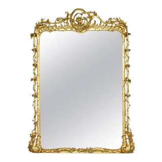 Rococo Revival Gilt Gesso Mirror