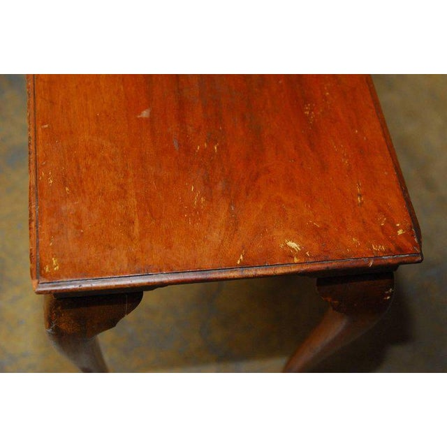19th Century Queen Anne Revival Walnut Bench or Console - Image 4 of 8