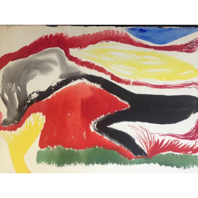 Image of Mid-Century Gouache Abstract - Jo Landor