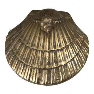 Brass Seashell Trinket Box