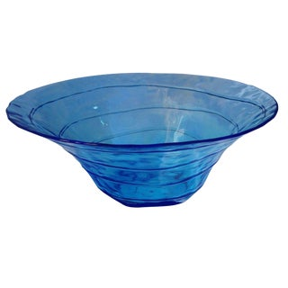 Large Blue Glass Bowl