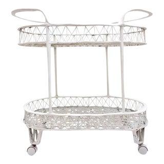 Vintage Russell Woodard Spun Fiberglass Rolling Bar Cart