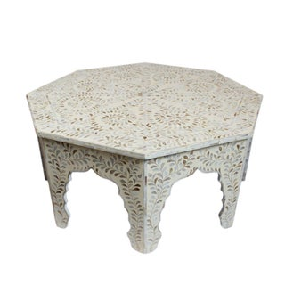 Mother of Pearl Inlay Octagonal Coffee Table