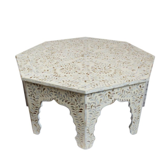 Mother Of Pearl Inlay Octagonal Coffee Table Chairish