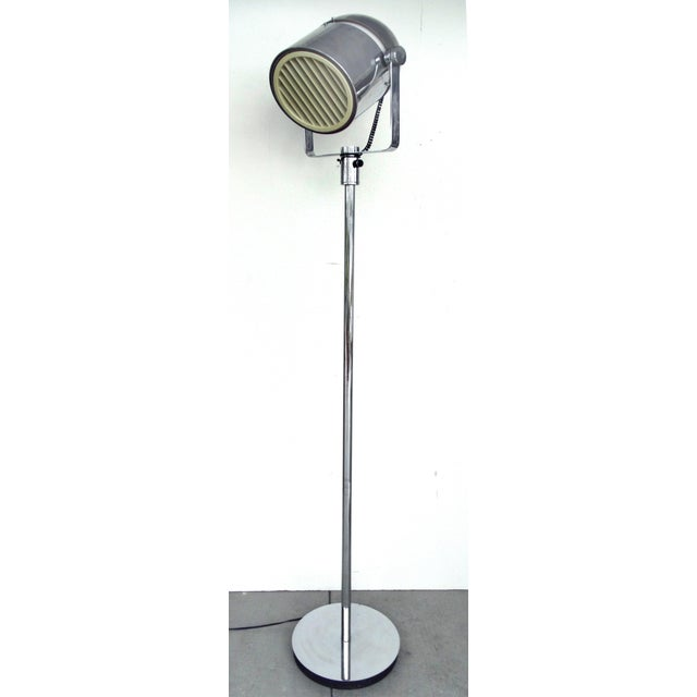 industrial modern chrome spotlight floor lamp chairish. Black Bedroom Furniture Sets. Home Design Ideas