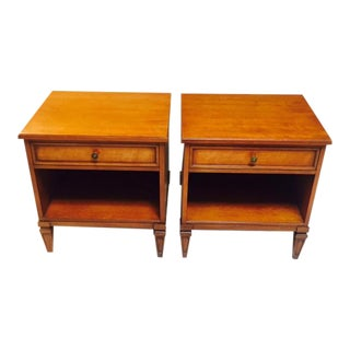 Solid Wood Henredon End Tables - A Pair