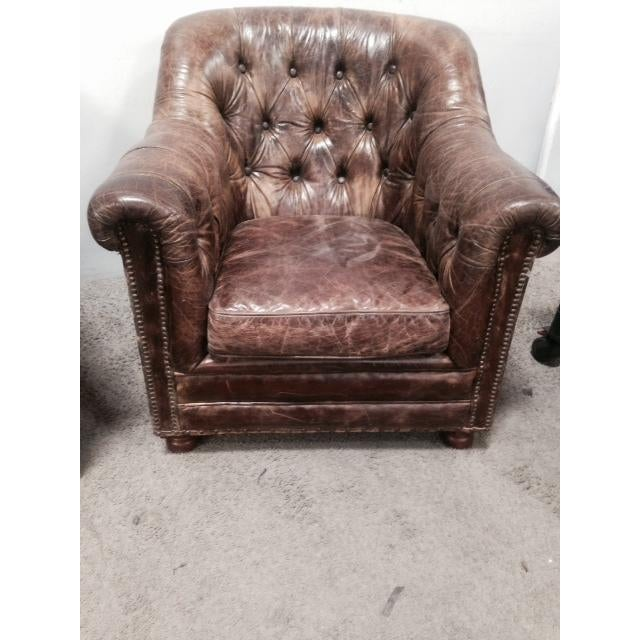 Leather Club Chairs - Pair - Image 3 of 11