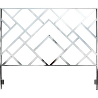 Milo Baughman for DIA Chrome Lattice King Headboard