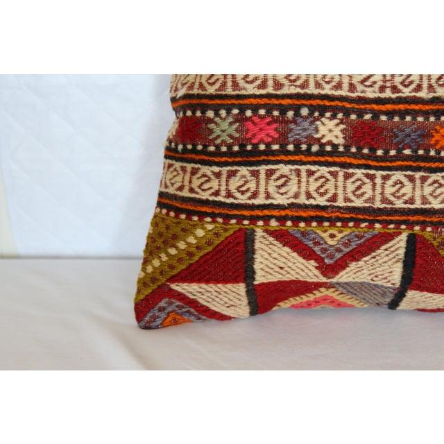 "Kilim Pillow Handmade Pillowcase Boho Chic Vintage - 16"" x 16"" - Image 4 of 7"