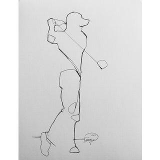 'Swing' Black & White Drawing