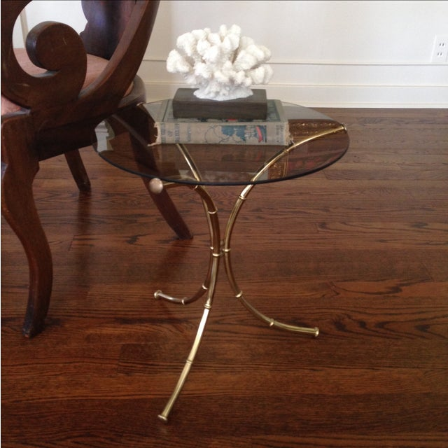 Vintage Faux Bamboo Accent Table - Image 5 of 11