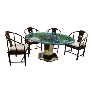 Henredon Asian Regency Cane Dining Set Table Chair