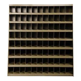 Vintage Industrial Metal Steel Rustic Lyon Open File Sorting Storage Cabinet