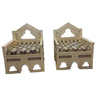 Vintage Moorish Armchairs - Pair