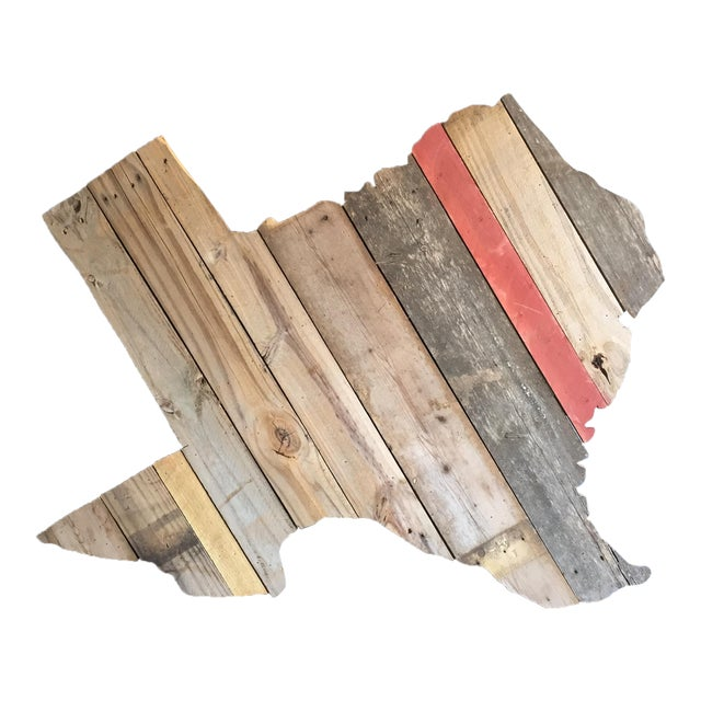 Reclaimed Barn Wood Texas Sign - Image 1 of 7