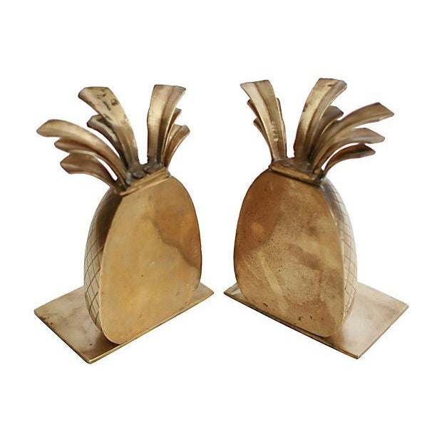 Brass Pineapple Bookends - A Pair - Image 3 of 3