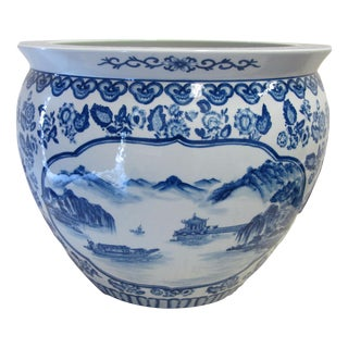 Blue & White Chinese Jardiniere