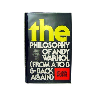 The Philosophy of Andy Warhol, Signed