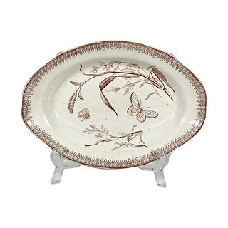 English Ironstone Butterfly Platter