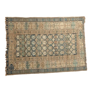 "Antique Caucasian Rug - 3'10"" X 5'3"""