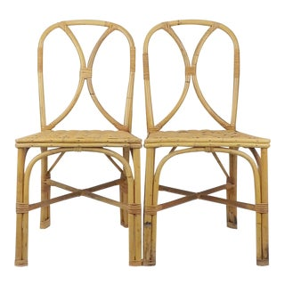 Tiki Hawaiian Bentwood Bamboo Chairs - A Pair