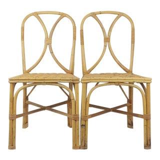 Tiki Hawaiian Bentwood Bamboo Chairs - A Pair