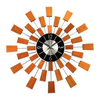 Retro Style Sunburst Clock