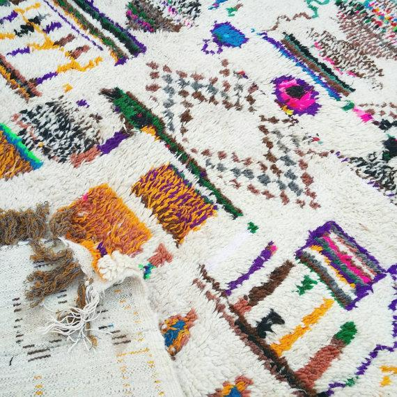Vintage Azilal Wool Moroccan Rug - 5″ × 7″ - Image 3 of 4