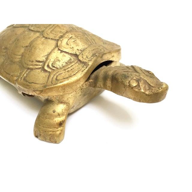 Antique Lidded Brass Turtle Trinket Box - Image 8 of 11