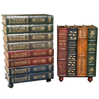 Decorative Book Form Cabinets - Pair
