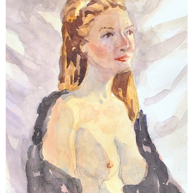 """""""The Rose"""" Original Watercolor by Esther Akrish - Image 2 of 3"""