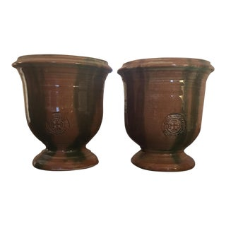 French Provence Pots - A Pair