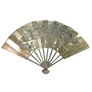 Vintage Brass Dragon Fan