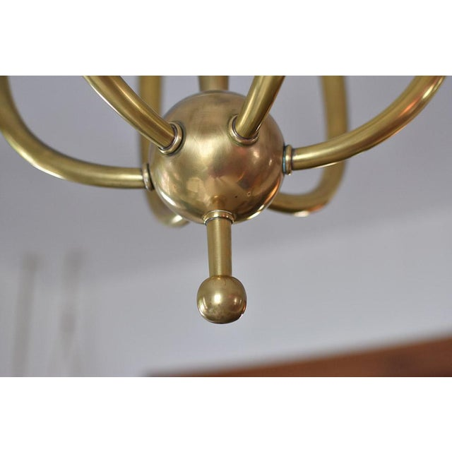 Brass Chandelier With Six Lights - Image 3 of 8