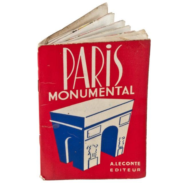 Vintage Guy Paris Monument Map - Image 2 of 6