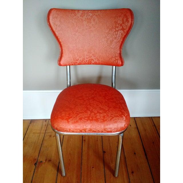 Retro 1950s Vinyl & Chrome Dining Chairs - Set of 4 - Image 3 of 10
