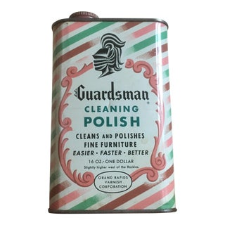 Vintage Guardsman Cleaning Polish Tin