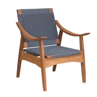 Mid-Century Modern Gray Izapa Lounge Chair
